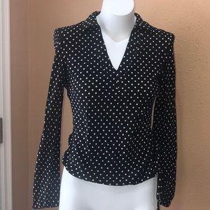 Ann Taylor polka dot blouse